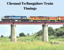 Chennai to Bangalore Train timings
